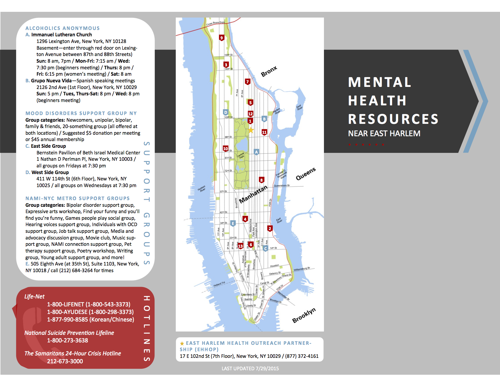 EHHOP - Mental Health Resources Near East Harlem